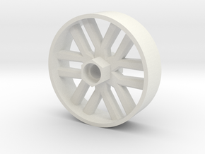 BP8 front wheel for foam tires 56mm in White Natural Versatile Plastic