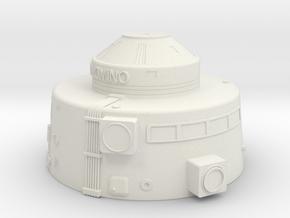 1.192 Pal Upper Hull V0.1 (repaired) in White Natural Versatile Plastic