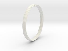 New Ring Design in White Natural Versatile Plastic