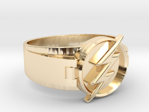 Flash Ring Size 13 22.2mm  in 14K Yellow Gold