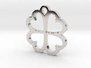 4 Leaf Clover Hearts Lucky St. Patricks Day Earing in Platinum