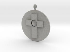 Cross pendant in Metallic Plastic
