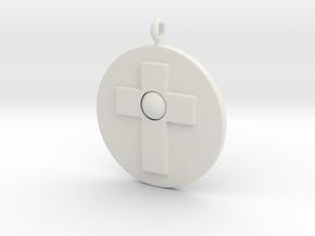 Cross pendant in White Natural Versatile Plastic