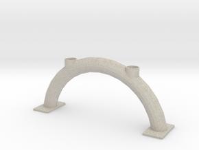 Arch Candlestick/Boogkandelaar voor 2 tafelkaarsen in Natural Sandstone
