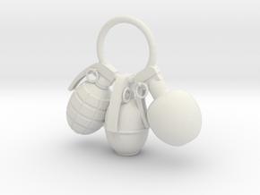 Hand grenade in White Natural Versatile Plastic