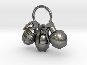 Hand grenade in Polished Nickel Steel