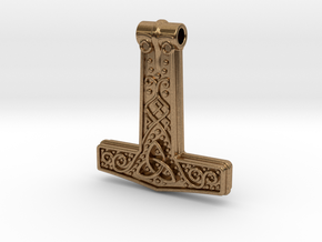 Thor hammer in Natural Brass
