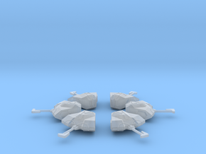 """Kushan """"Hub"""" Research Ships (6) in Smooth Fine Detail Plastic"""