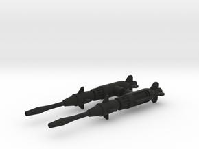 STOVL Jet Missiles in Black Natural Versatile Plastic