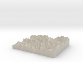 Model of White Glacier in Sandstone