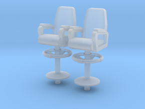 1:72 Scale Captain Chair in Smooth Fine Detail Plastic