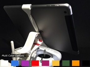 iPad Air Vector (V2) Remote Mount for DJI Phantom in White Natural Versatile Plastic
