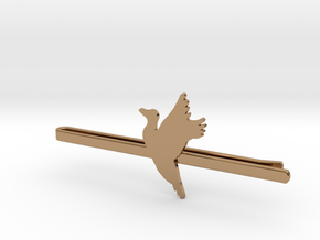 Duck 1 Tie Clip  in Polished Brass