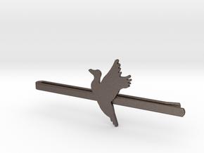 Duck 1 Tie Clip  in Polished Bronzed Silver Steel