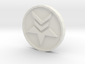 Paragon Renegade Coin in White Natural Versatile Plastic