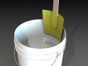 5 Gallon Size Bucket Paint Scraper  in White Natural Versatile Plastic
