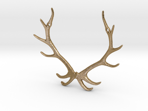 Reindear Pendant in Polished Gold Steel