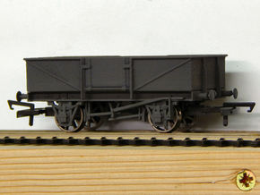 00 GWR O30 Steel Bodied Open Goods Wagon in White Strong & Flexible Polished