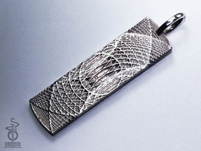 Secure Access Tag Pendant : Resonator Range in Polished Silver
