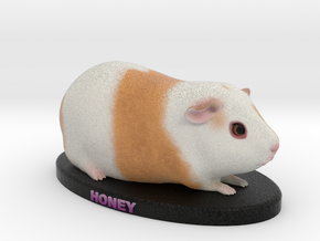 Custom Guinea Pig Figurine - Honey in Full Color Sandstone