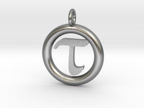 Tau Open Unit(cm) Pendant in Natural Silver
