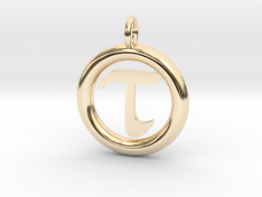 Tau Open Unit(cm) Pendant in 14K Yellow Gold