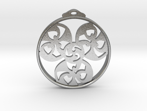 Triskele Pendant / Earring in Natural Silver