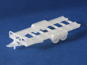 Car Trailer X2 HO Scale in Smooth Fine Detail Plastic