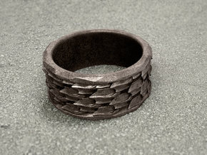 Shark Skin ring: size 6.5 (US) M (UK) in Stainless Steel