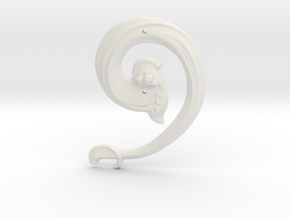 "Art Nouveau House Number: 9 at 6"" in White Natural Versatile Plastic"