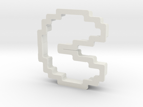 pixely pizza guy cookie cutter in White Natural Versatile Plastic