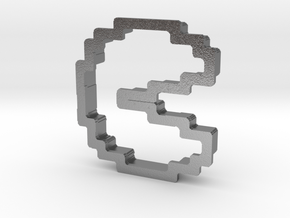 pixely pizza guy cookie cutter in Natural Silver