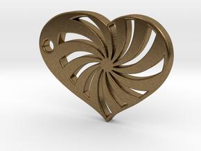 Spiral Heart in Natural Bronze