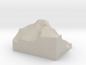 Model of Longs Peak in Natural Sandstone