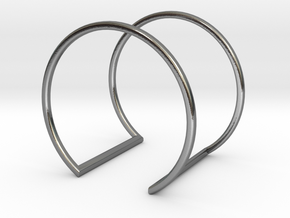 Wire Frame Loop Cuff Small 60mm VI-08-0003-1006 in Polished Silver
