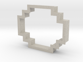 pixely cookie cutter in Natural Sandstone