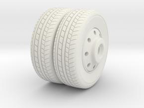 Rear Wheel in White Natural Versatile Plastic