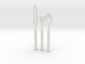 Knife Fork Spoon Set - Innovation vs. Utiltiy in White Natural Versatile Plastic
