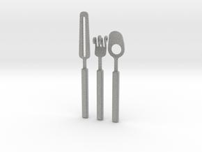 Knife Fork Spoon Set - Innovation vs. Utiltiy in Metallic Plastic