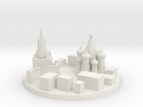 Moscow City Marker in White Natural Versatile Plastic
