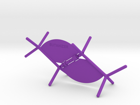 Butanizer - rotatable dihedral angle visualizer in Purple Processed Versatile Plastic