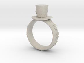 St Patrick's hat ring(size = USA 3.5-4) in Natural Sandstone