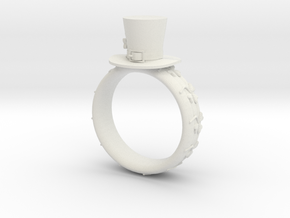 St Patrick's hat ring( size = USA 6.5) in White Natural Versatile Plastic