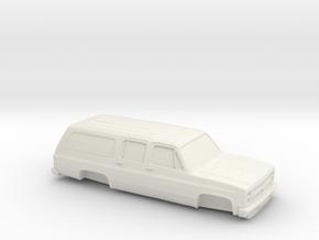 1/87 1986 Chevrolet Suburban  in White Strong & Flexible