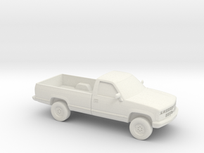 1/87 1989 Chevrolet Silverado in White Natural Versatile Plastic