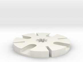 Iceblock Stick Joiner (4 way) in White Natural Versatile Plastic
