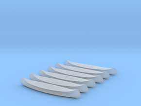 6 N-scale Canoes in Smooth Fine Detail Plastic