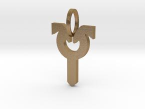 Avacyn Pendant in Polished Gold Steel