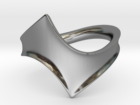 Twisting Yin - Size 7 in Fine Detail Polished Silver