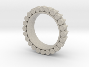 Bullet ring Ring(size = USA 3.5-4) in Natural Sandstone